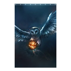 Owl And Fire Ball Shower Curtain 48  X 72  (small)  by Amaryn4rt