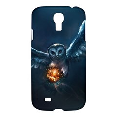 Owl And Fire Ball Samsung Galaxy S4 I9500/i9505 Hardshell Case by Amaryn4rt