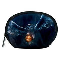 Owl And Fire Ball Accessory Pouches (medium)  by Amaryn4rt