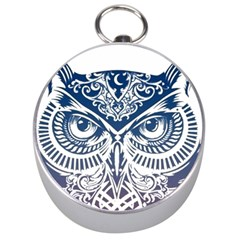 Owl Silver Compasses by Amaryn4rt