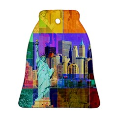 New York City The Statue Of Liberty Bell Ornament (two Sides) by Amaryn4rt