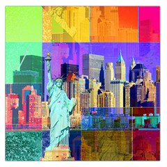 New York City The Statue Of Liberty Large Satin Scarf (square)