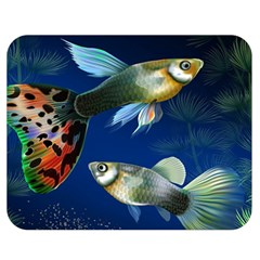 Marine Fishes Double Sided Flano Blanket (medium)  by Amaryn4rt
