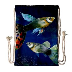 Marine Fishes Drawstring Bag (large)