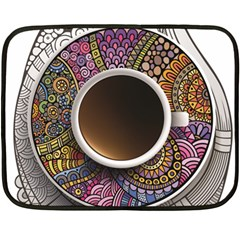 Ethnic Pattern Ornaments And Coffee Cups Vector Fleece Blanket (mini) by Amaryn4rt