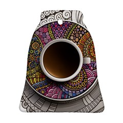Ethnic Pattern Ornaments And Coffee Cups Vector Ornament (bell) by Amaryn4rt