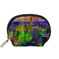 New York City Skyline Accessory Pouches (small)  by Amaryn4rt