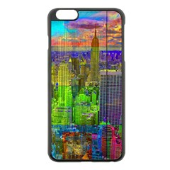 New York City Skyline Apple Iphone 6 Plus/6s Plus Black Enamel Case by Amaryn4rt