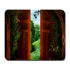 Beautiful World Entry Door Fantasy Large Mousepads by Amaryn4rt