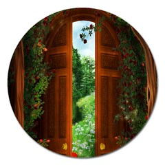 Beautiful World Entry Door Fantasy Magnet 5  (round) by Amaryn4rt