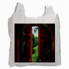 Beautiful World Entry Door Fantasy Recycle Bag (one Side)