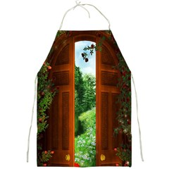 Beautiful World Entry Door Fantasy Full Print Aprons by Amaryn4rt
