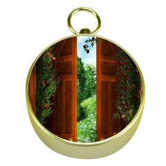 Beautiful World Entry Door Fantasy Gold Compasses by Amaryn4rt