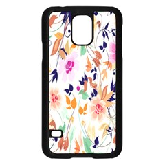 Vector Floral Art Samsung Galaxy S5 Case (black) by Amaryn4rt
