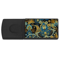 Retro Ethnic Background Pattern Vector Usb Flash Drive Rectangular (4 Gb) by Amaryn4rt