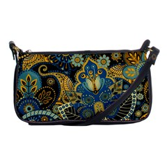 Retro Ethnic Background Pattern Vector Shoulder Clutch Bags by Amaryn4rt