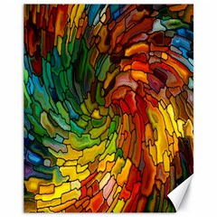Stained Glass Patterns Colorful Canvas 11  X 14