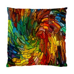 Stained Glass Patterns Colorful Standard Cushion Case (two Sides)