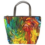 Stained Glass Patterns Colorful Bucket Bags Front