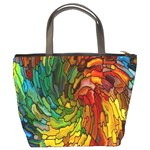 Stained Glass Patterns Colorful Bucket Bags Back