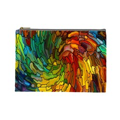 Stained Glass Patterns Colorful Cosmetic Bag (large)