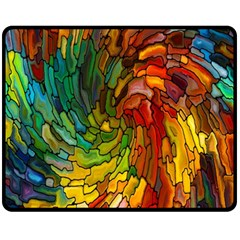 Stained Glass Patterns Colorful Fleece Blanket (medium)