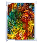 Stained Glass Patterns Colorful Apple iPad 2 Case (White) Front