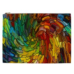 Stained Glass Patterns Colorful Cosmetic Bag (xxl)