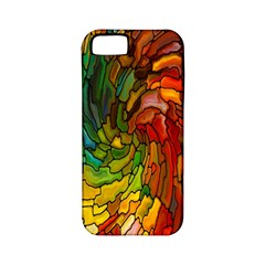 Stained Glass Patterns Colorful Apple Iphone 5 Classic Hardshell Case (pc+silicone)