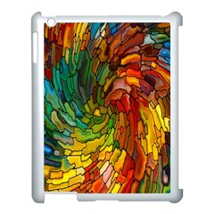 Stained Glass Patterns Colorful Apple Ipad 3/4 Case (white) by Amaryn4rt