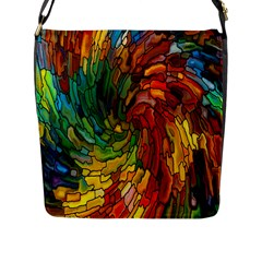 Stained Glass Patterns Colorful Flap Messenger Bag (l)