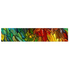 Stained Glass Patterns Colorful Flano Scarf (small) by Amaryn4rt