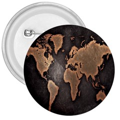 Grunge Map Of Earth 3  Buttons by Amaryn4rt