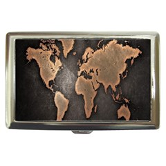 Grunge Map Of Earth Cigarette Money Cases