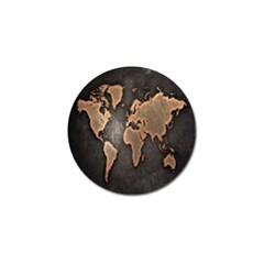 Grunge Map Of Earth Golf Ball Marker (4 Pack)