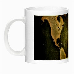 Grunge Map Of Earth Night Luminous Mugs