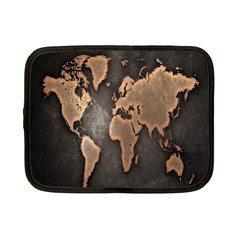 Grunge Map Of Earth Netbook Case (small)