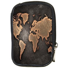 Grunge Map Of Earth Compact Camera Cases