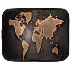 Grunge Map Of Earth Netbook Case (xl)