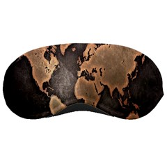Grunge Map Of Earth Sleeping Masks