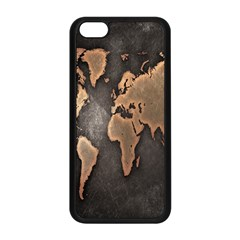 Grunge Map Of Earth Apple Iphone 5c Seamless Case (black) by Amaryn4rt