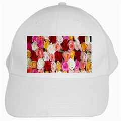 Rose Color Beautiful Flowers White Cap