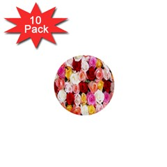 Rose Color Beautiful Flowers 1  Mini Buttons (10 Pack)