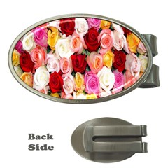 Rose Color Beautiful Flowers Money Clips (oval)