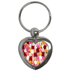 Rose Color Beautiful Flowers Key Chains (heart)