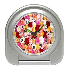 Rose Color Beautiful Flowers Travel Alarm Clocks