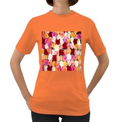 Rose Color Beautiful Flowers Women s Dark T Shirt