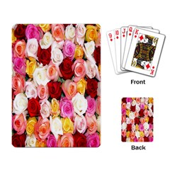 Rose Color Beautiful Flowers Playing Card