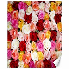 Rose Color Beautiful Flowers Canvas 11  X 14
