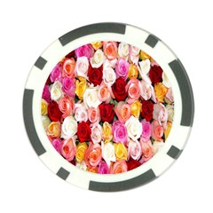 Rose Color Beautiful Flowers Poker Chip Card Guard (10 Pack)
